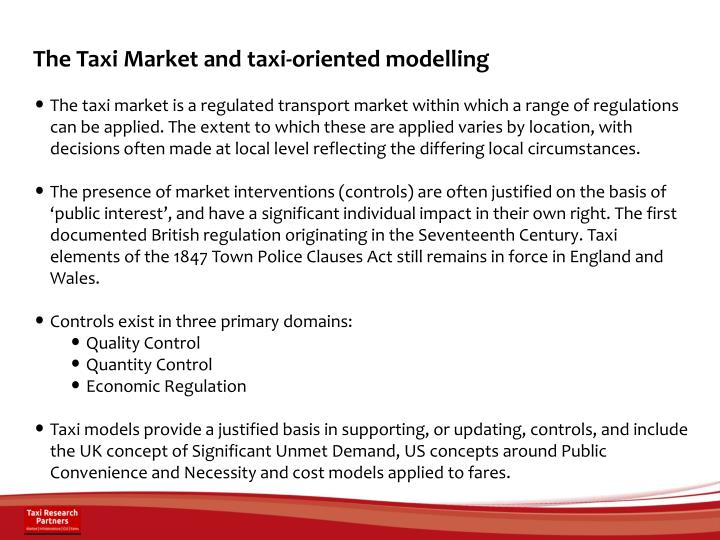 The Taxi Market and taxi-oriented