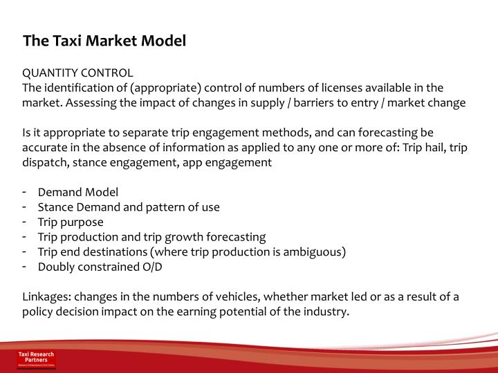 The Taxi Market Model