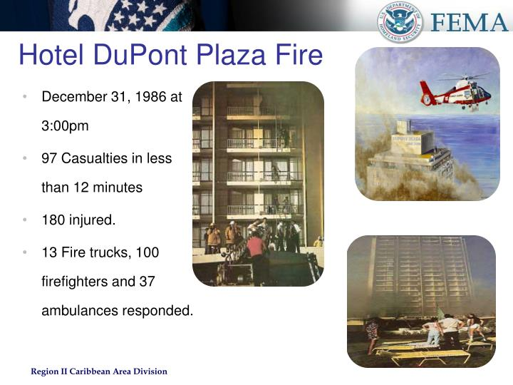 Hotel DuPont Plaza Fire