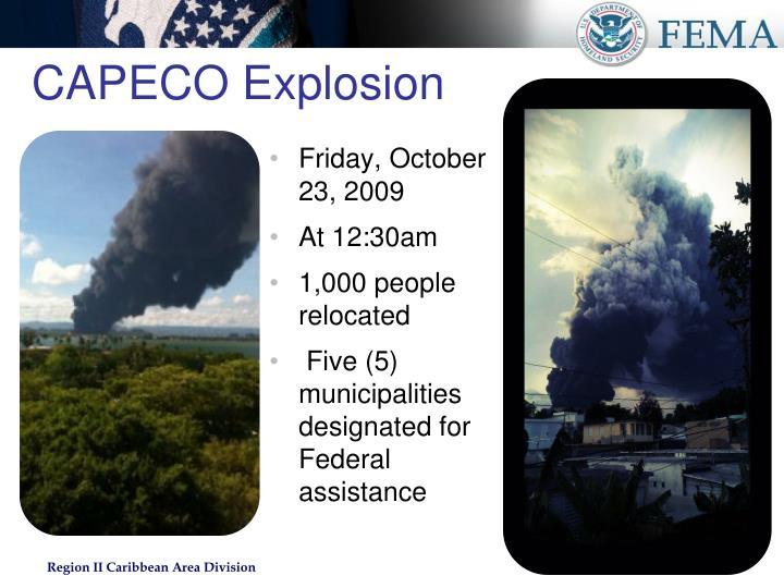CAPECO Explosion