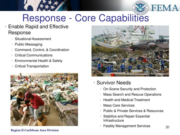 Response - Core Capabilities