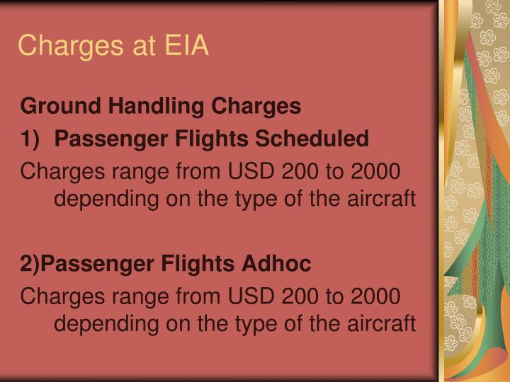 Charges at EIA