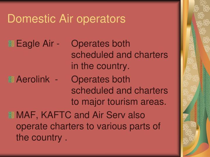 Domestic Air operators