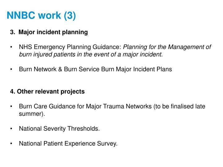 Major incident planning