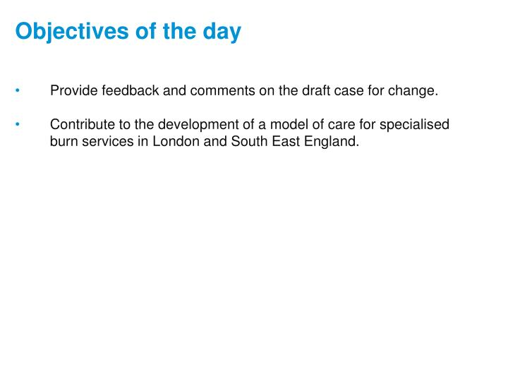 Provide feedback and comments on the draft case for change.