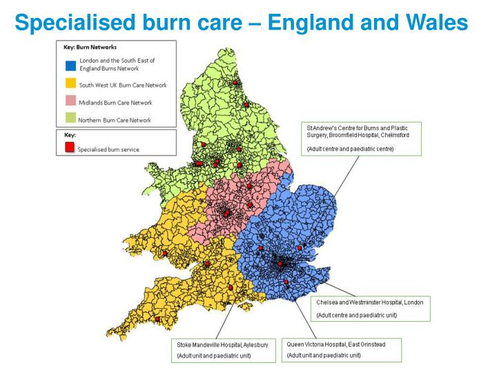 Specialised burn care – England and Wales