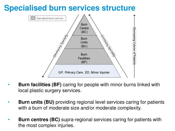 Specialised burn services structure