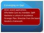 converging on qapi
