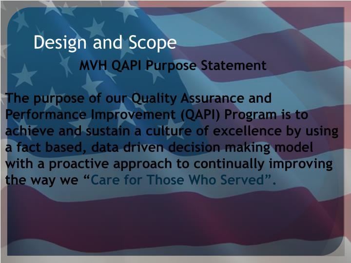 Design and Scope