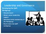 leadership and governance