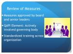 review of measures