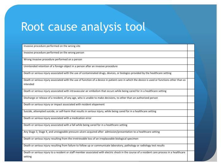 Root cause analysis tool
