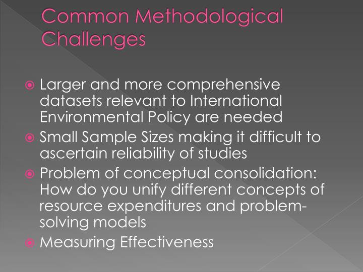 Common Methodological Challenges