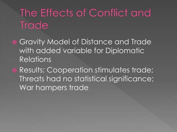 The Effects of Conflict and Trade