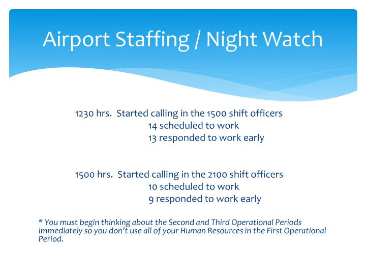 Airport Staffing / Night Watch