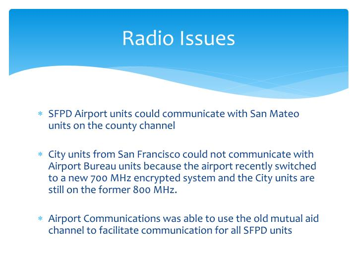 Radio Issues