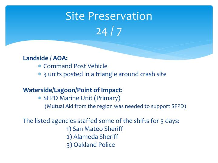 Site Preservation
