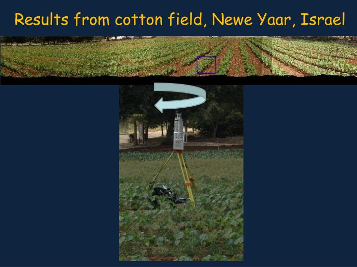 Results from cotton field,