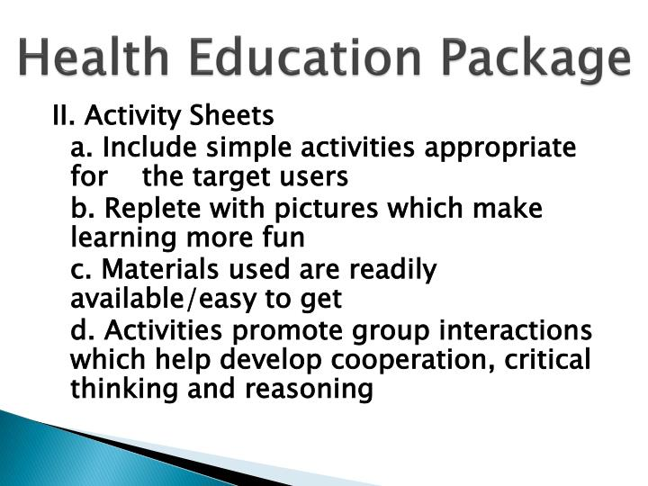 Health Education Package