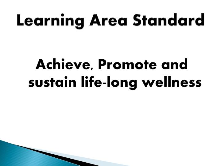 Learning Area Standard