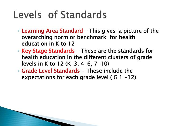 Levels  of Standards