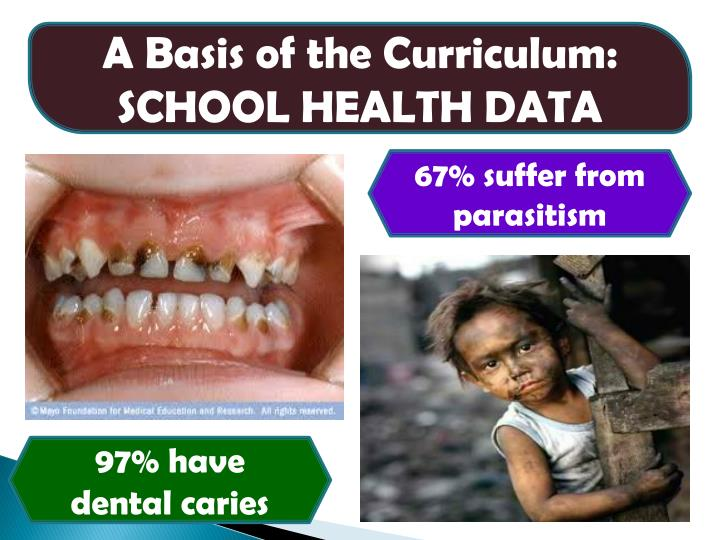 A Basis of the Curriculum: SCHOOL HEALTH DATA