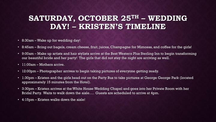 Saturday, October 25