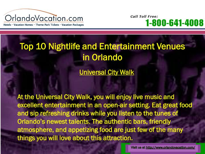 Top 10 Nightlife and Entertainment Venues in Orlando