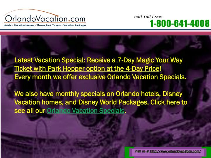 Latest Vacation Special: