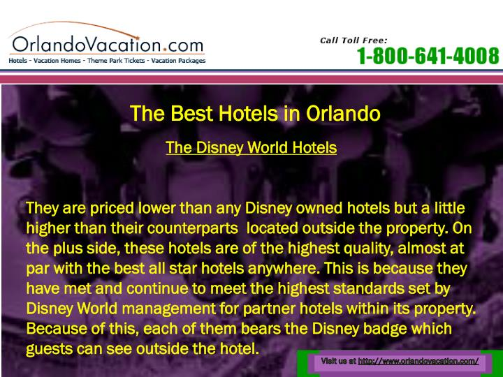 The Best Hotels in Orlando