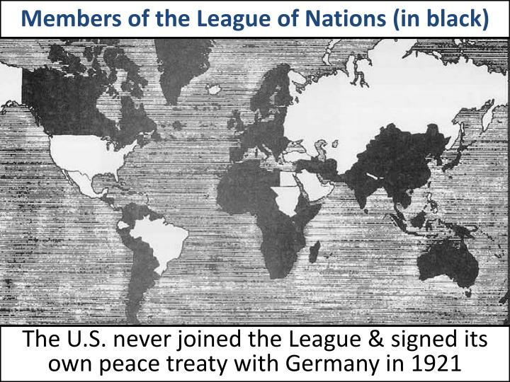 the impact of the versailles treaty on the league of nations Free essay: the impact of the treaty of versailles on germany the treaty of versailles was received very badly within germany the nation had been blamed â the german people felt bitter that they were excluded from the league of nations and enforced to live by other peoples rules these problems resulted in.