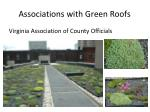 associations with green roofs