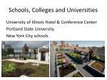 schools colleges and universities