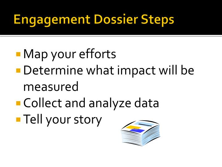 Engagement Dossier Steps