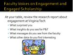 faculty voices on engagement and engaged scholarship