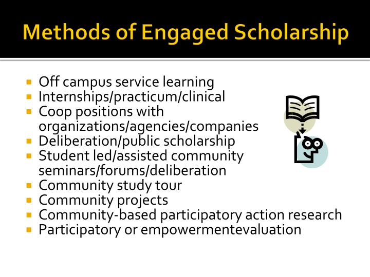 Methods of Engaged Scholarship