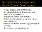 strengthening the engagement dossier tips and practices cont1