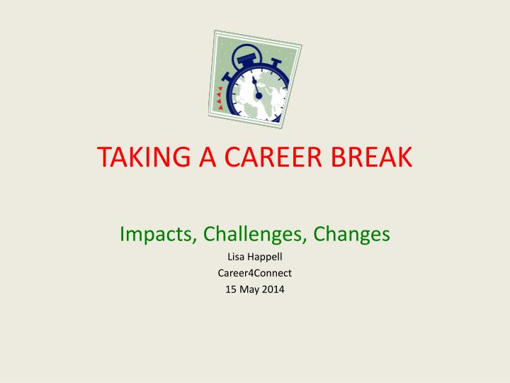 Taking a career break
