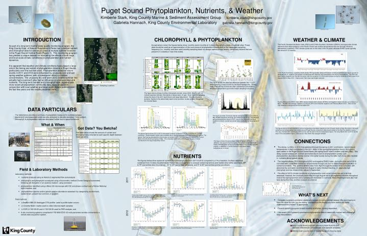 Puget sound phytoplankton nutrients weather