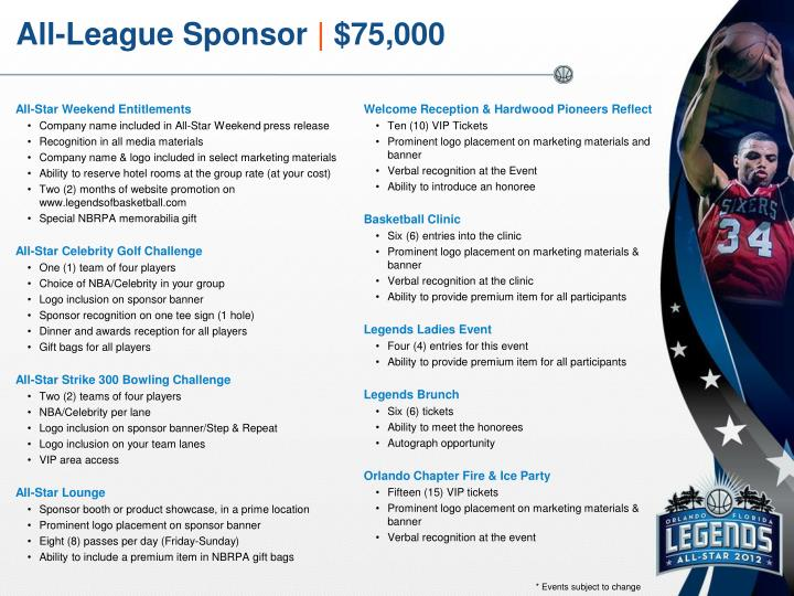 All-League Sponsor