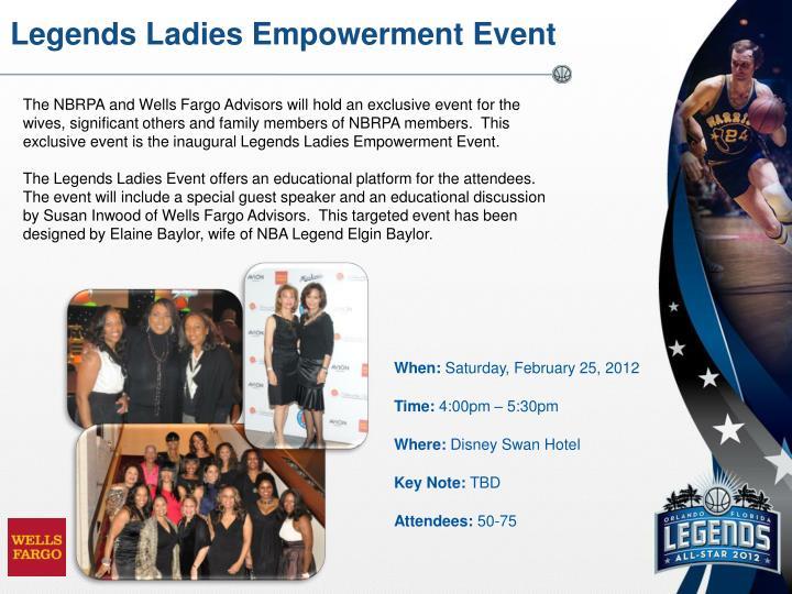 Legends Ladies Empowerment Event