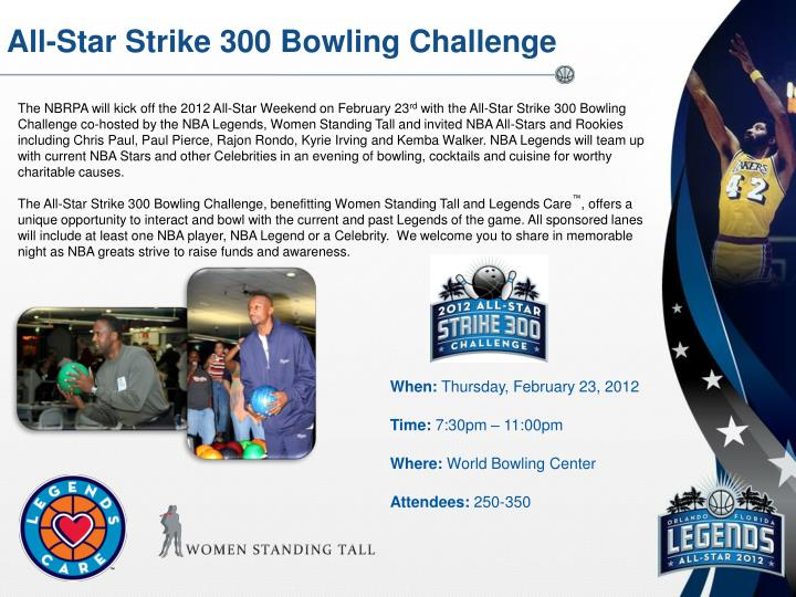All-Star Strike 300 Bowling Challenge