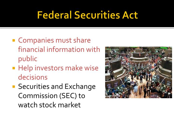 Federal Securities Act