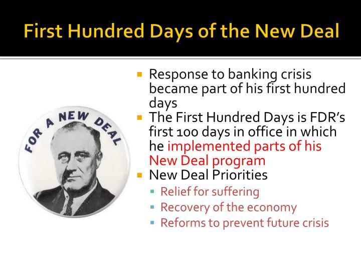 First Hundred Days of the New Deal