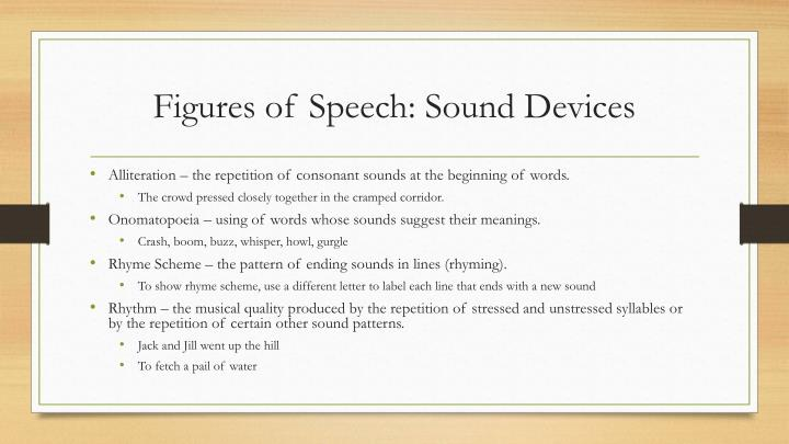 Figures of Speech: Sound Devices