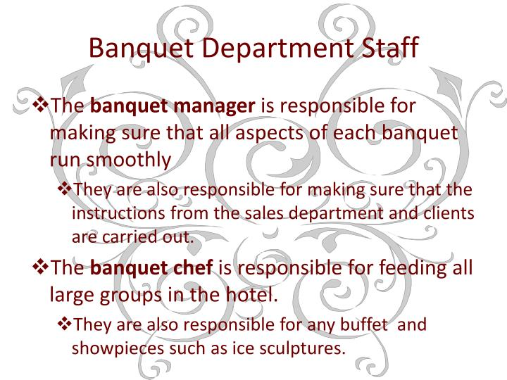 Banquet Department Staff