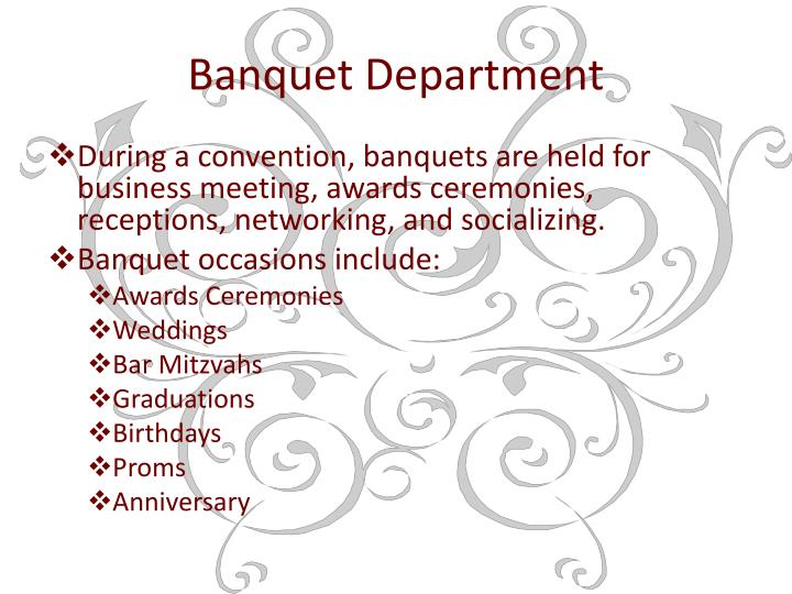 Banquet Department