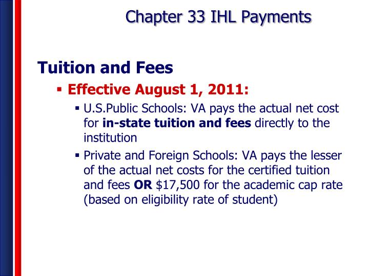 Chapter 33 IHL Payments