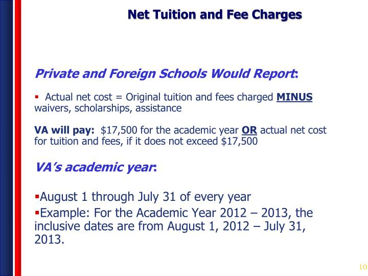 Net Tuition and Fee Charges