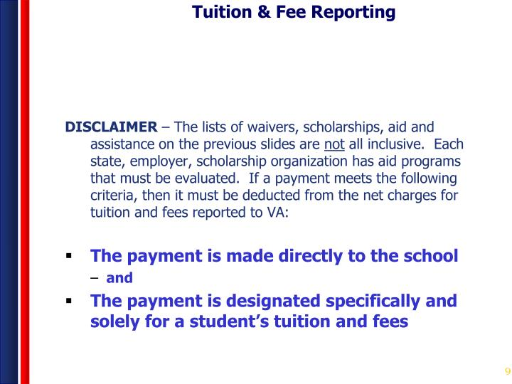 Tuition & Fee Reporting